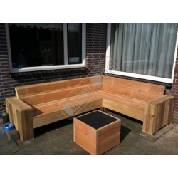 Hoekbank 170x230 brede leuning (bouwpakket)