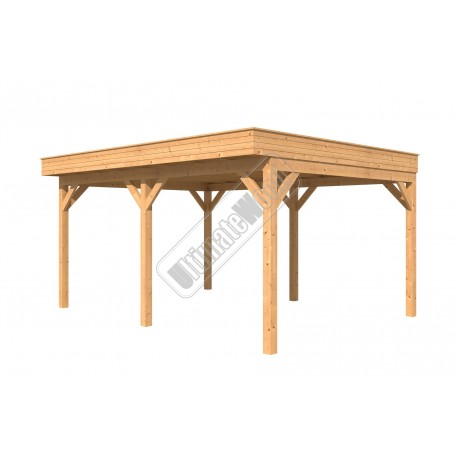Douglas overkapping plat dak