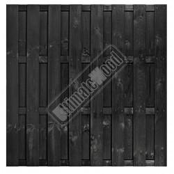 Tuinscherm Zwart gespoten grenen 15 planks
