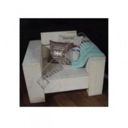 Loungestoel zitting 60cm, brede leuining