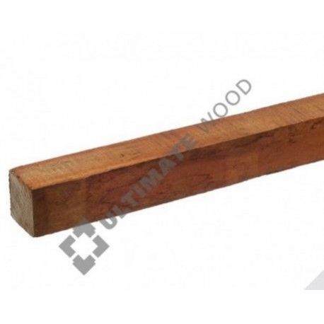 Hardhouten paaltje geschaafd 25x25