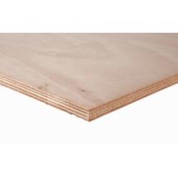 Okoume plaat 250x122cm onbehandeld/ wit