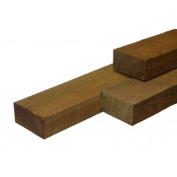 Hardhouten onderligger Azobe fijnbezaagd 50x150