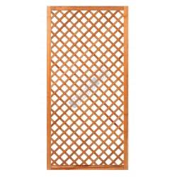 Trellis diagonaal met lijst hardhout 90x180cm