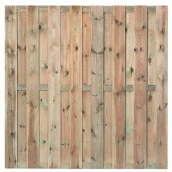 Tuinscherm 15 planks geimpregneerd Grenen