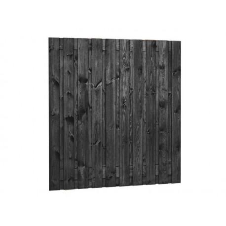 Tuinscherm Zwart Gespoten 17 planks