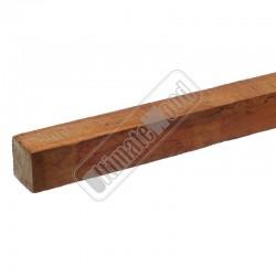 Hardhouten paal 60 x 60 x 2000 mm. fijngezaagd