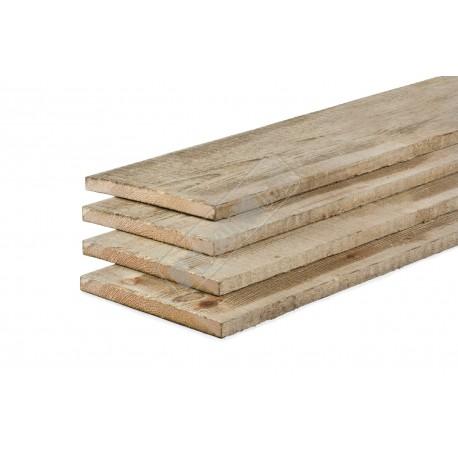 Grenen geïmpregneerd/ fijnbezaagde planken