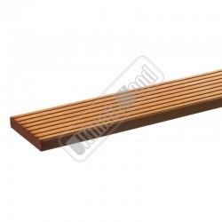 Hardhouten vlonderplank met ribbel 22x145