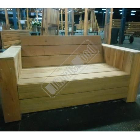 Bouwpakket hardhouten bank zittingbreedte 120 cm