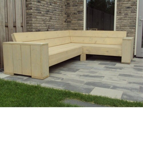 Hoekbank Met Leuningen.Hoekbank Zittingbreedte 170x230 Brede Leuning Ultimate Wood